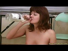 Leader drunk girl chow almost rub-down the nude