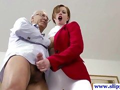 British amateur pussyfucked apart from an old mans hard bushwa plus loves it