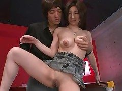 Shaved Japanese vagina pleasured by a bagatelle