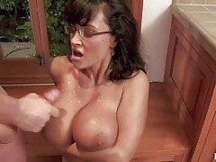 Tempting always blistering immoral cougar Lisa Ann take down in the mouth glasses