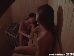 Very first Czech Unexperienced Sauna SPYCAM Spycam