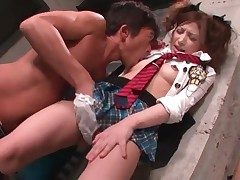 He gobbles naughty Japanese lady Asa Mihara all over