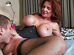Deauxma is a stellar mature woman with fantastic fat jugs