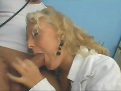 Blonde weaken has A- dealings and loves a facial