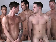 Male model orgy after some professional posing