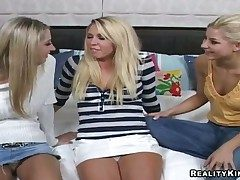 Threesome lesbian instalment with hot girls named Brynn Tyler, Nikki added to Sammie Rhodes
