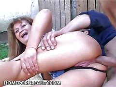 Aged slut Samantha gets will not hear of chubby nuisance fucked deep together with